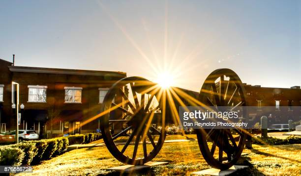 Sun Star on old Civil War cannon in town square