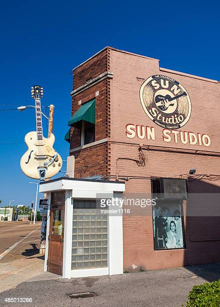 sun studio in memphis, tennessee - memphis tennessee stock pictures, royalty-free photos & images