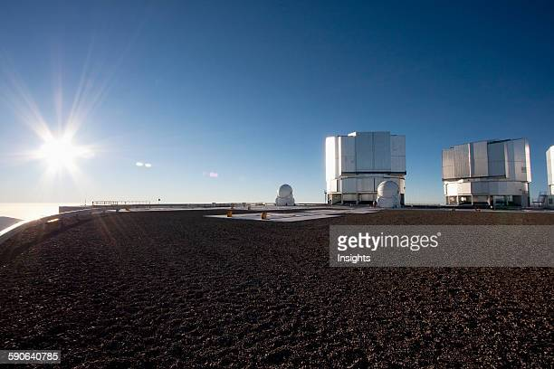 Sun Unit Telescope 1 Moon Unit Telescope 2 Belonging To The Very Large Telescope Operated By The European Southern Observatory At Cerro Paranal...