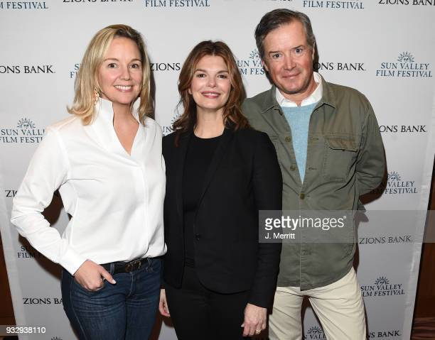 Sun Valley Film Festival Director Candice Pate, actress Jeanne Tripplehorn, and Sun Valley Film Festival Executive Director Teddy Grennan attend the...