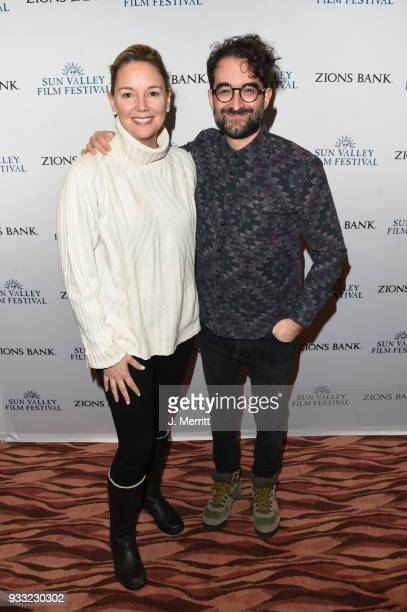 Sun Valley Film Festival Director Candice Pate and actor Jay Duplass attends the 2018 Sun Valley Film Festival Coffee Talk with Jay Duplass on March...