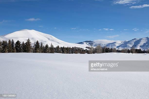 Sun Valley Idaho Winter Landscape