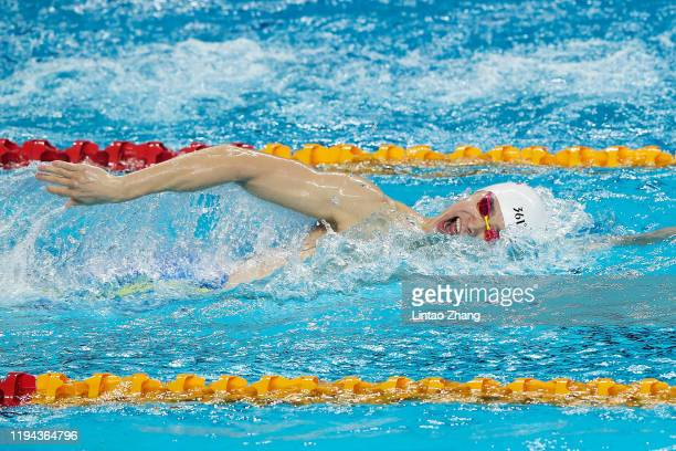Sun Yang of China competes in the Men's 200m Freestyle Final during the day one of FINA Champions Swim Series 2020Beijing at Ying Tung Swimming Hall...