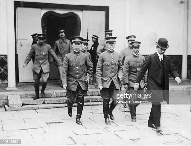 Sun YatSen Guomindang'S Founder With His Staff Going To A Cabinet Meeting In China Around 19101919The End Of The Celestial Empire Was Brought About...