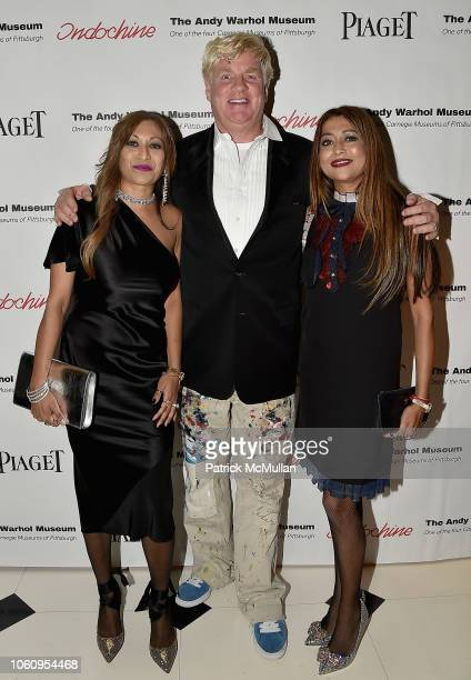 Sunali Sharma Peter Tunney and Shruti Gupta attend The Andy Warhol Museum's Annual NYC Dinner at Indochine on November 12 2018 in New York New York