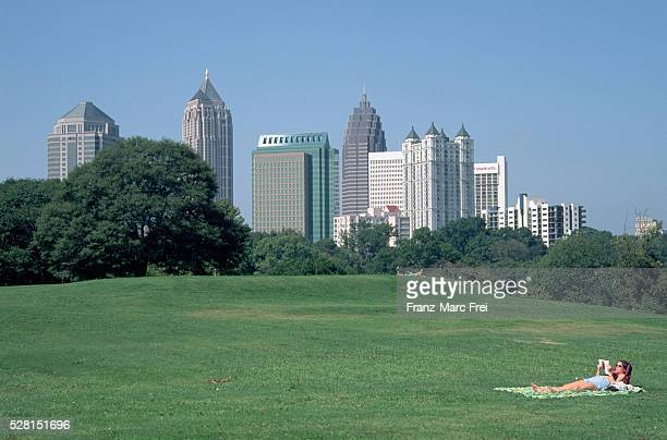Sunbather in Piedmont Park, Atlanta