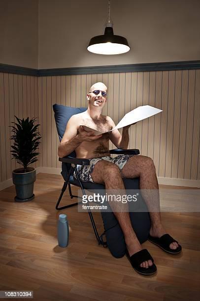 sunbather in solarium - sunbathing stock pictures, royalty-free photos & images