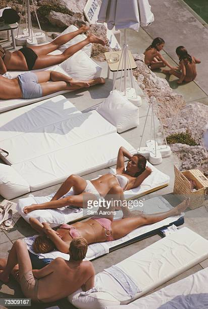 Sunbathers at the Hotel du Cap EdenRoc Antibes France August 1969