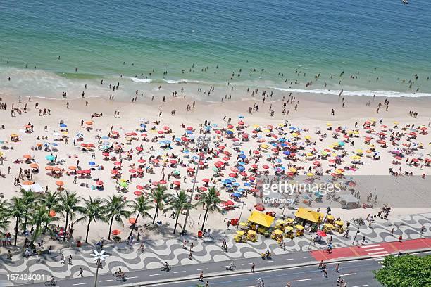 Sunbathers On Copacabana Beach, Rio de Janeiro