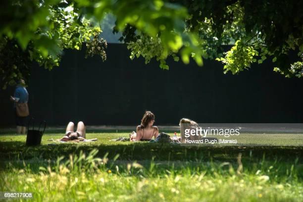 Sunbathing Hyde Park