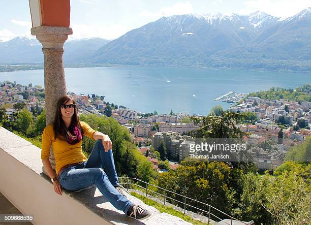 Sunbathing in Locarno, Switzerland