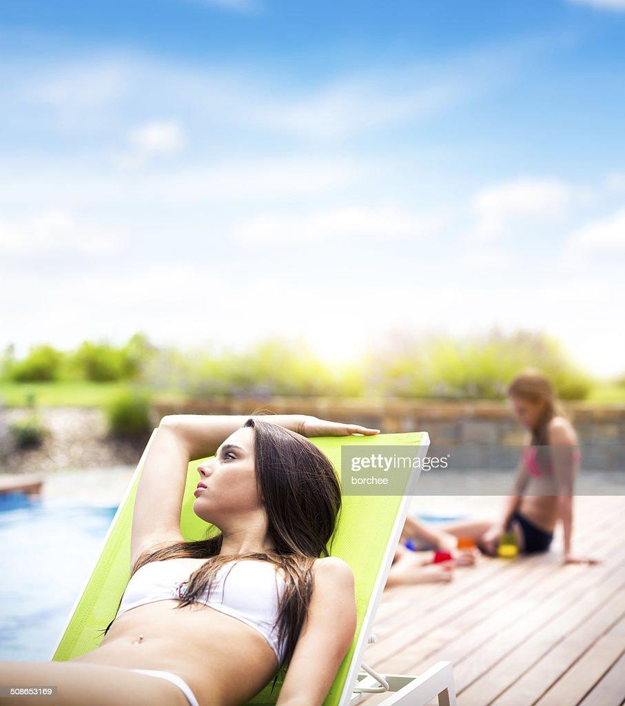Sunbathing : Stock Photo