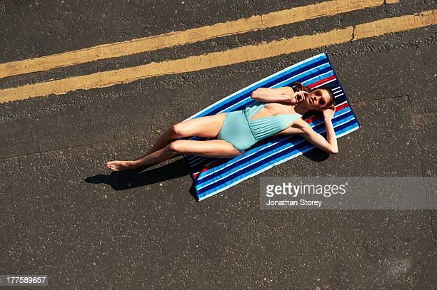 Sunbathing road