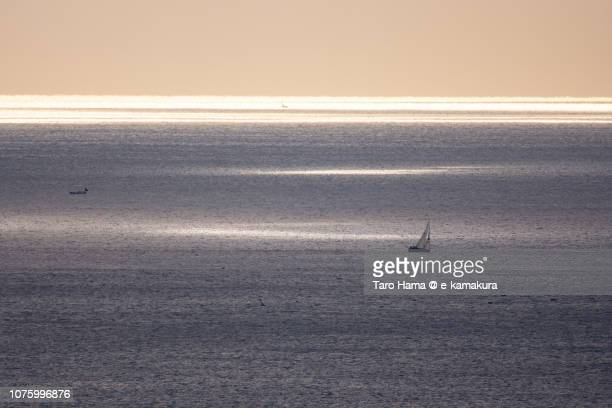 Sunbeam on Sagami Bay in Kanagawa prefecture in Japan