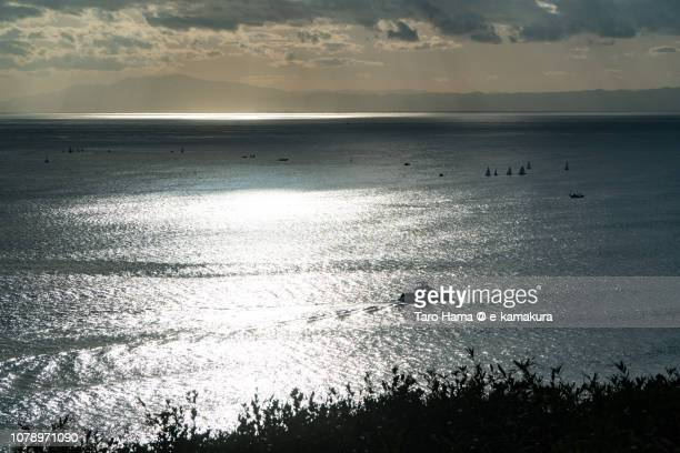 Sunbeam on Sagami Bay, Northern Pacific Ocean in Japan
