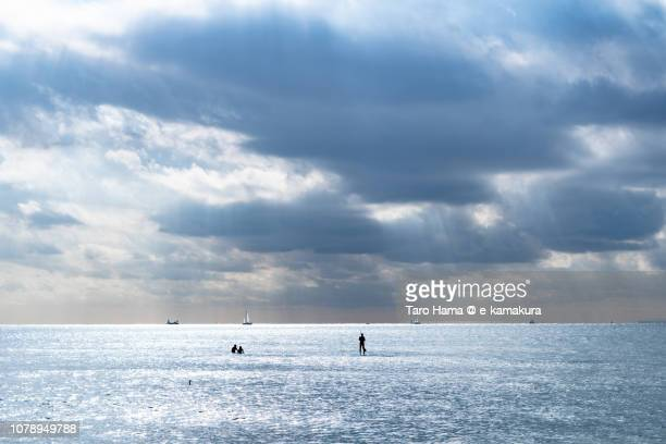 Sunbeam on Sagami Bay, Northern Pacific Ocean in Kanagawa prefecture in Japan
