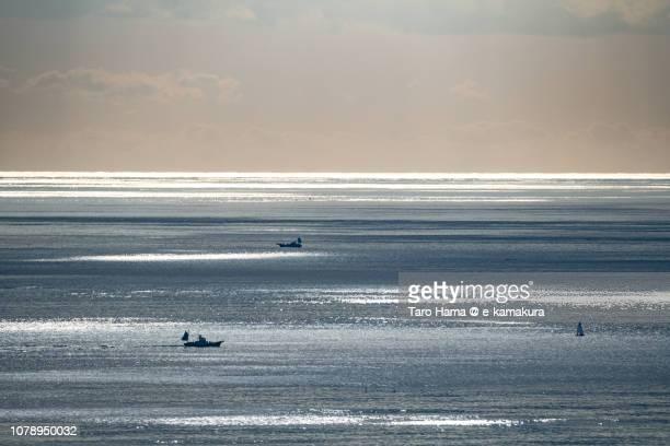 Sunbeam on Sagami Bay, Pacific Ocean in Japan