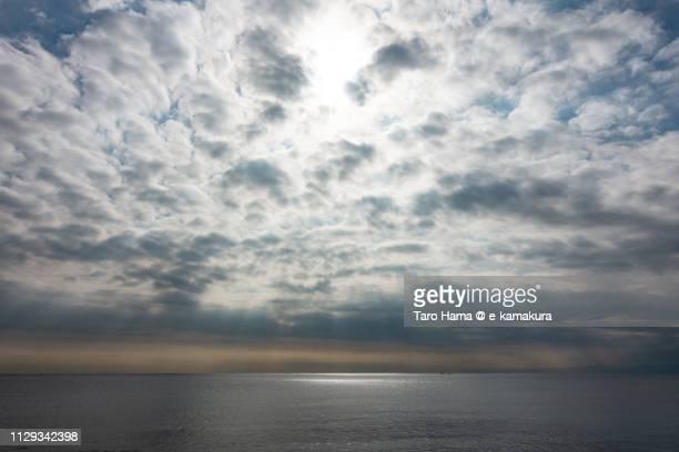 Sunbeam on Sagami Bay, Pacific Ocean in Kamakura in Japan