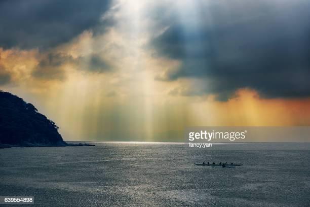 sunbeam on the sea