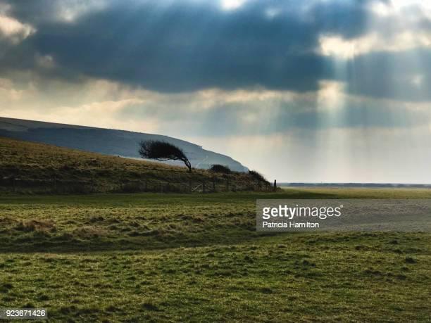 Sunbeams at Seven Sisters, South Downs