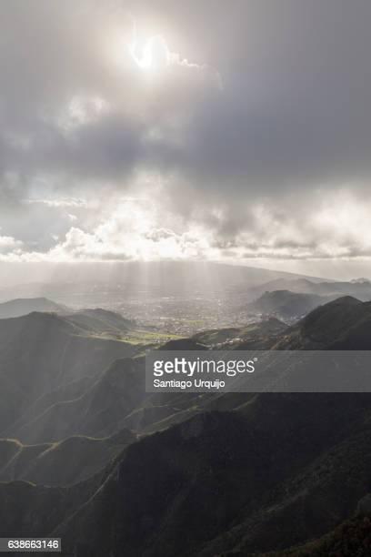 Sunbeams over Anaga Mountains