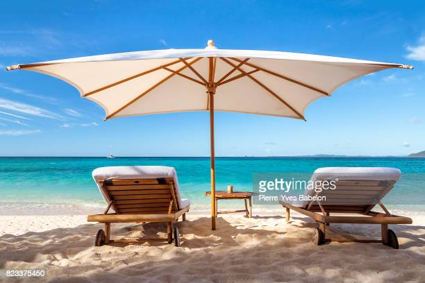 sunbeds - pierre yves babelon stock pictures, royalty-free photos & images