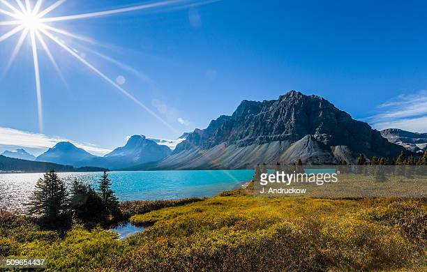 Sunburst at Bow Lake Alberta