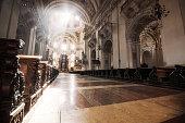 Sunburst in Salzburg Cathedral