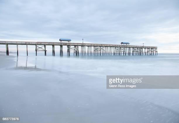 Sunburst pier on a cloudy day, Amelia Island, Florida