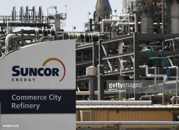 Suncor Energy Refinery April 19, 2018 in Commerce City, Colorado.