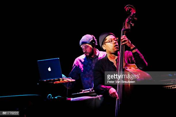 DJ Sundance and Vicente Archer performs with Robert Glasper at Lantaren Venster on November 10 2017 in Rotterdam Netherlands