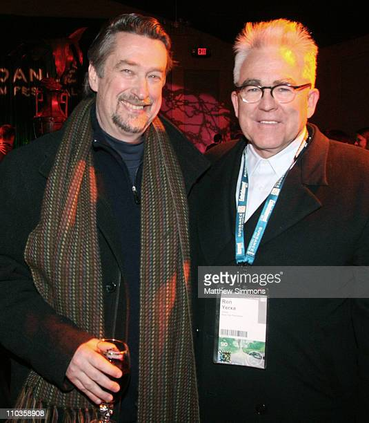 Sundance Director Geoffrey Gilmore and Ron Yerxa attend the Competition Dinner at The Shop during the 2008 Sundance Film Festival on January 22 2008...