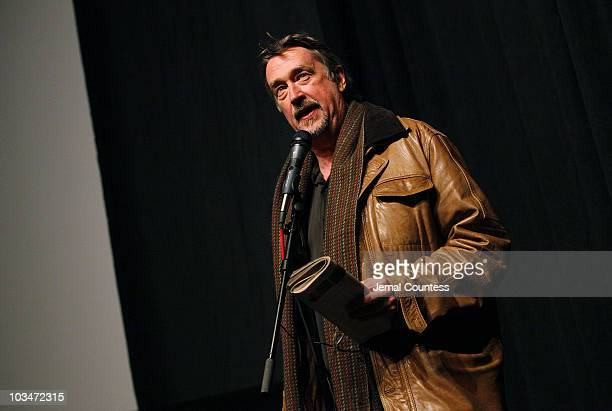 Sundance Film Festival director Geoffrey Gilmore speaks during the premiere of Big Fan during the 2009 Sundance Film Festival at Racquet Club Theatre...