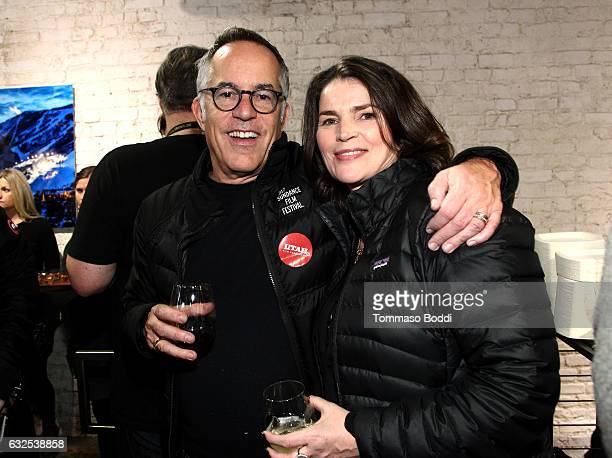 Sundance Film Festival Director John Cooper and actress Julia Ormond attend the private 50th Birthday Party for IMDb's Col Needham Presented By...