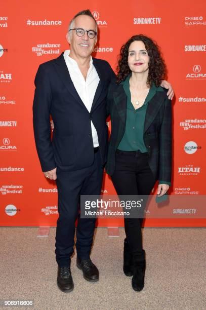 Sundance Film Festival Director John Cooper and Director Tamara Jenkins attend the Private Life Premiere during the 2018 Sundance Film Festival at...