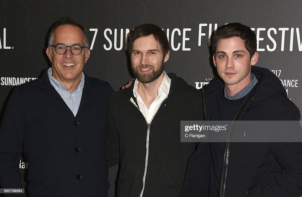 Sundance Film Festival Director John Cooper, director Shawn Christensen, and actor Logan Lerman attend the 'Sidney Hall' Premiere during 2017 Sundance Film Festival at Eccles Center Theatre on January 25, 2017 in Park City, Utah.