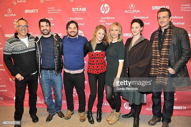 Sundance Film Festival Director John Cooper Ron Livingston James Ponsoldt Mamie Gummer Mickey Sumner Joan Cusack and Jason Segel attend the The End...