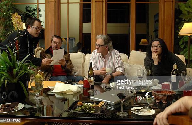 Sundance Film Festival director of programming John Cooper Sundance Film Festival director Geoffrey Gilmore Jan Schutte and Shunji Iwai attend the...