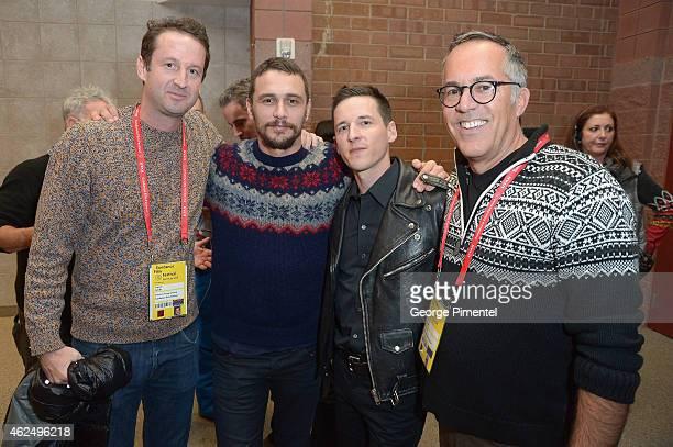 Sundance Film Festival Director of Programming Trevor Groth actor James Franco director Justin Kelly and Sundance Film Festival Director John Cooper...