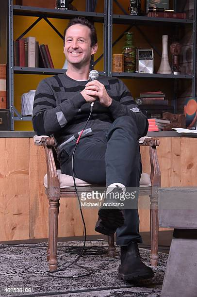 Sundance Film Festival Director of Programming Trevor Groth speaks at the Cinema Cafe during the 2015 Sundance Film Festival on January 30 2015 in...