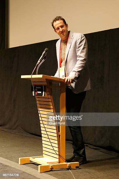 Sundance Film Festival Director of Programming Trevor Groth speaks onstage during the Drunk Stoned Brilliant Dead The Story Of The National Lampoon...