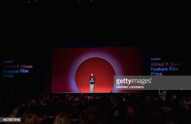 Sundance Film Festival Director of Programming Trevor Groth speaks onstage at the Awards Night Ceremony during the 2015 Sundance Film Festival at the...