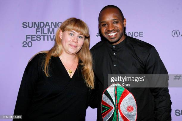 Sundance Film Festival Programmer Ania Trzebiatowska and Boniface Mwangi attend the 2020 Sundance Film Festival Softie Premiere at Park Avenue...