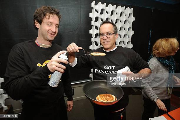Sundance Film Festival Programmer Trevor Groth and Sundance Film Festival Director John Cooper attend the Programmer Pancake Breakfast during 2010...