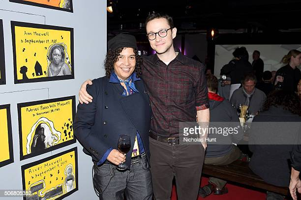 Sundance Film Festival Senior Programmer and New Frontier Chief Curator Shari Frilot and actor Joseph GordonLevitt attend Social Cinema New Frontier...