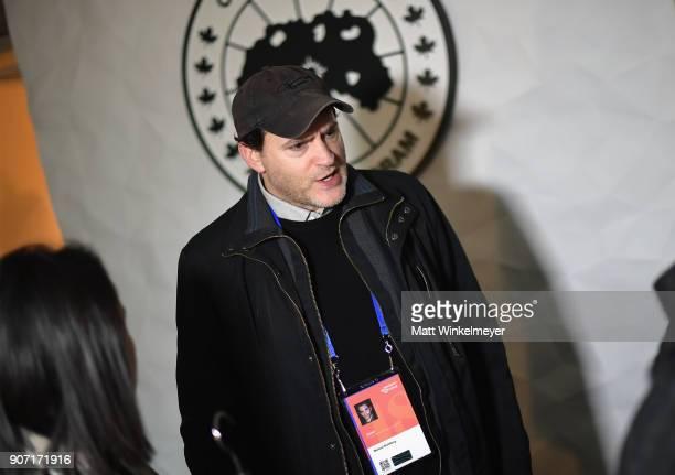 Sundance Film Festival US Dramatic Jury member actor Michael Stuhlbarg visits the Canada Goose Director Suite during the 2018 Sundance Film Festival...