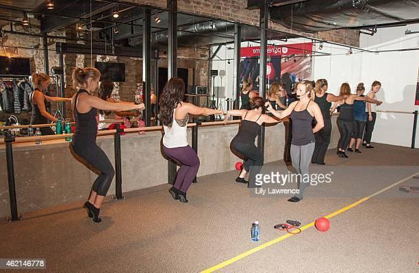 Sundance goers attend Pure Barre Hosts Popup Studio Day 3 2015 Park City on January 25 2015 in Park City Utah