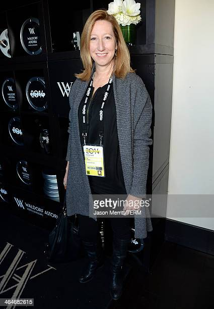 Sundance Institute Director Keri Putnam attends the Waldorf Astoria Hotels Resorts and Harvey Weinstein host football viewing party on January 19...