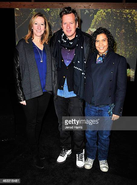 Sundance Institute Executive Director Keri Putnam artist Doug Aitken and Senior Programmer Sundance Film Festival Shari Frilot attend the New...