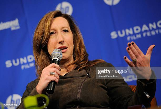 Sundance Institute Executive Director Keri Putnam speaks at the Day 1 Press Conference during the 2011 Sundance Film Festival at the Egyptian Theatre...